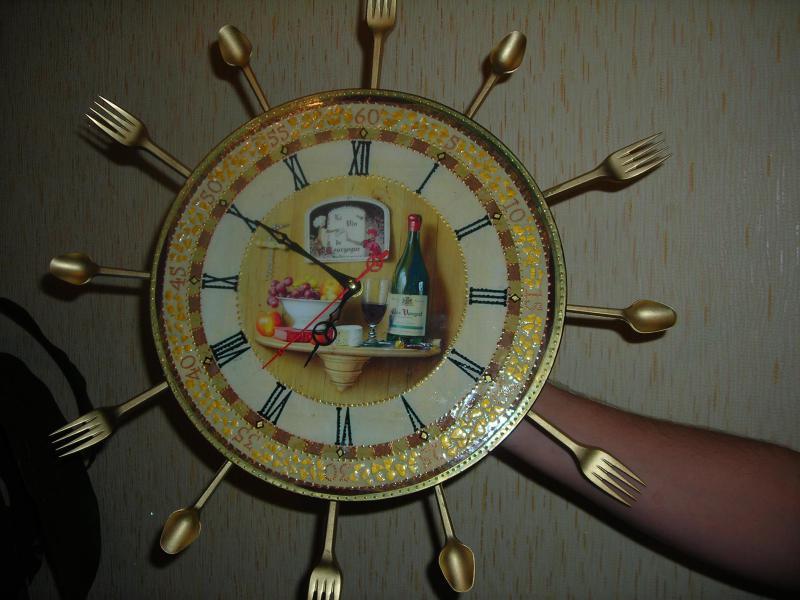 Мастер класс часы с фотографиями своими руками