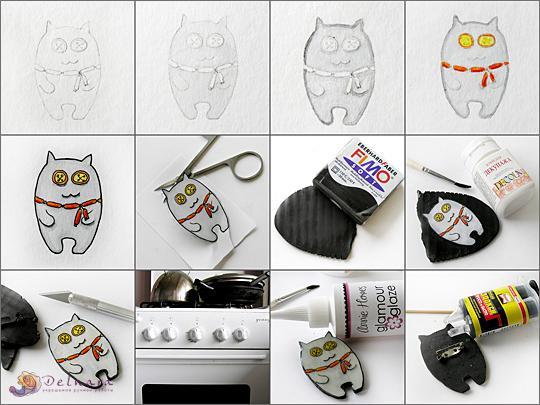 Чем можно рисовать по полимерной глине