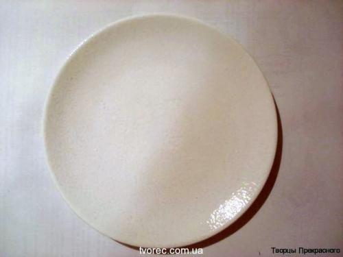 Зимняя тарелочка с эффектом снега 3
