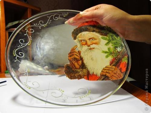 Роспись на тарелках новый год