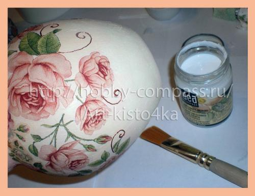 из стеклянной вазы фарфоровую 13