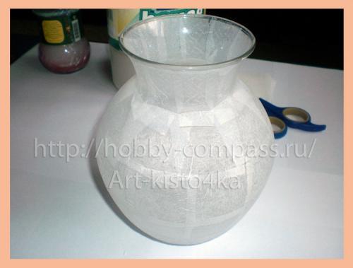 из стеклянной вазы фарфоровую 3