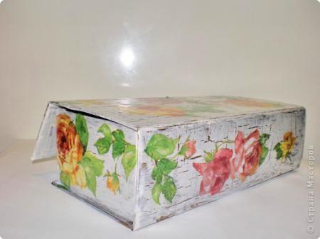 Картонная коробка декупаж
