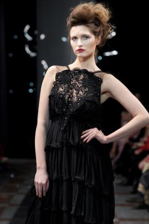 модные чёрные платья