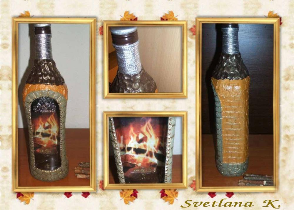 Объемный декупаж бутылок своими руками как получить наросты 67