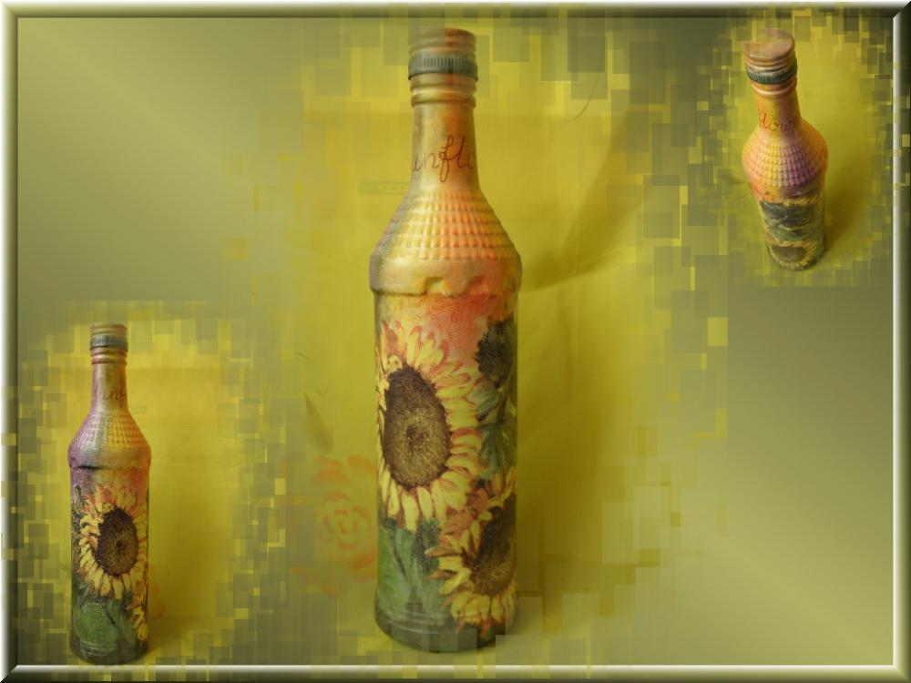 Как сделать тени на бутылке
