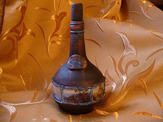 Бутылка фреска шпатлевка мастер класс