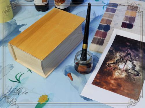 Эффект «свечения» в декупаже на деревянных заготовках 138957