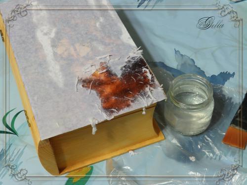 Эффект «свечения» в декупаже на деревянных заготовках 138962
