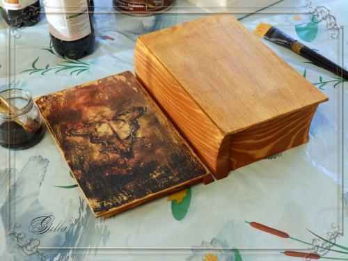 Эффект «свечения» в декупаже на деревянных заготовках 138963