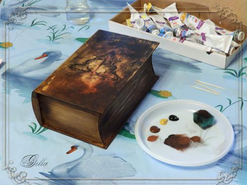 Эффект «свечения» в декупаже на деревянных заготовках 138968