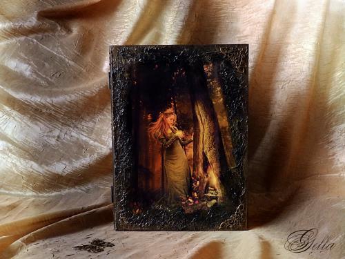 Эффект «свечения» в декупаже на деревянных заготовках 139239