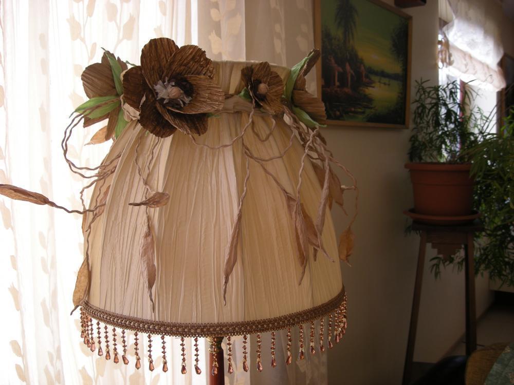 Декор торшера тканью своими руками