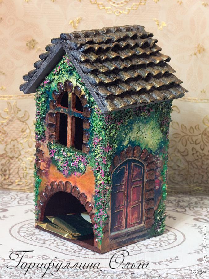 Крыши у чайных домиков декупаж