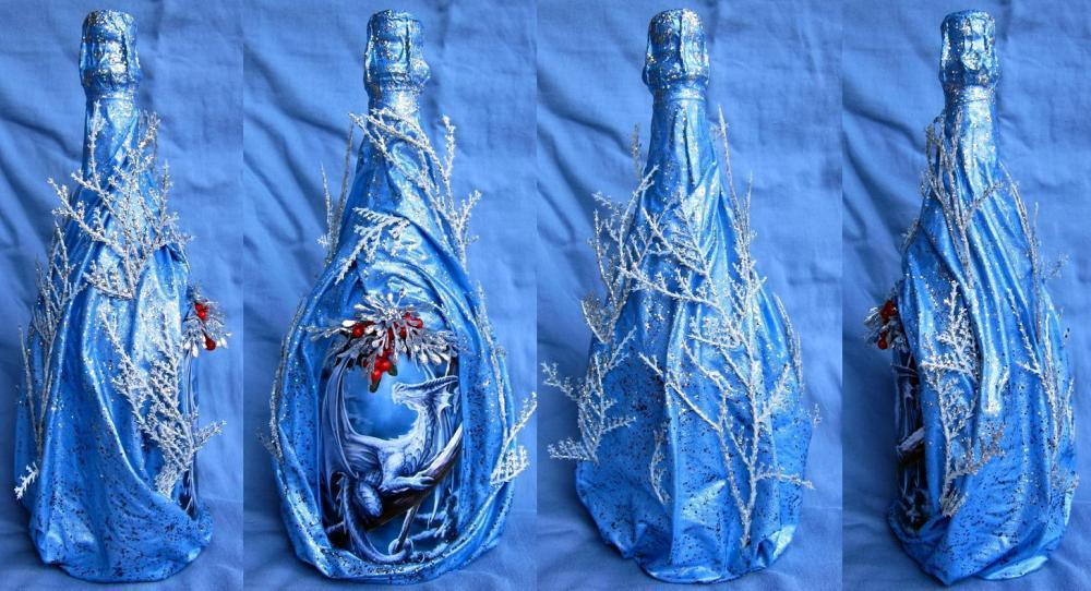 Бутылки оформленные своими руками мастер класс 412