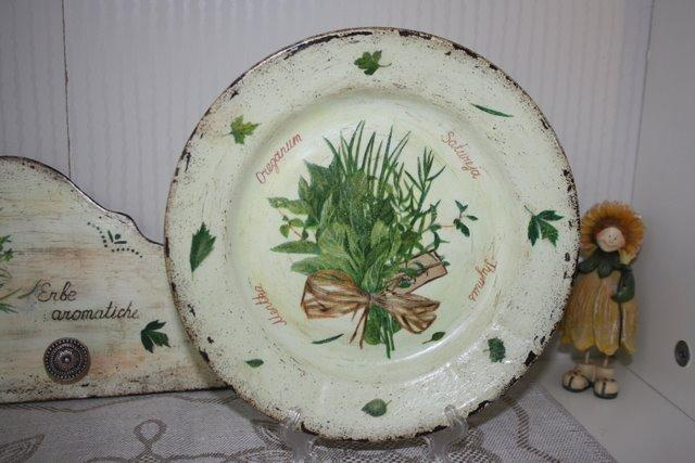 Декупаж тарелок в стиле шебби шик
