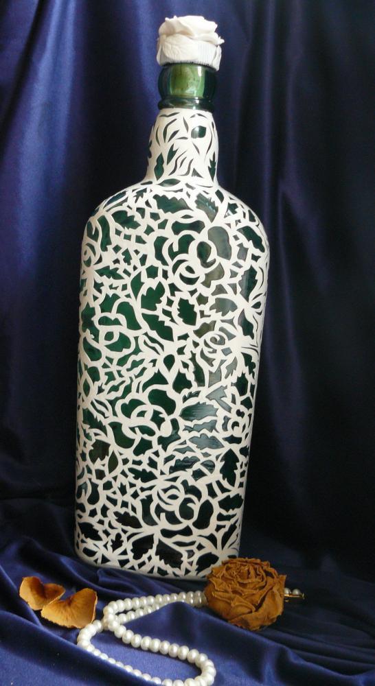 Кружева для декора бутылок