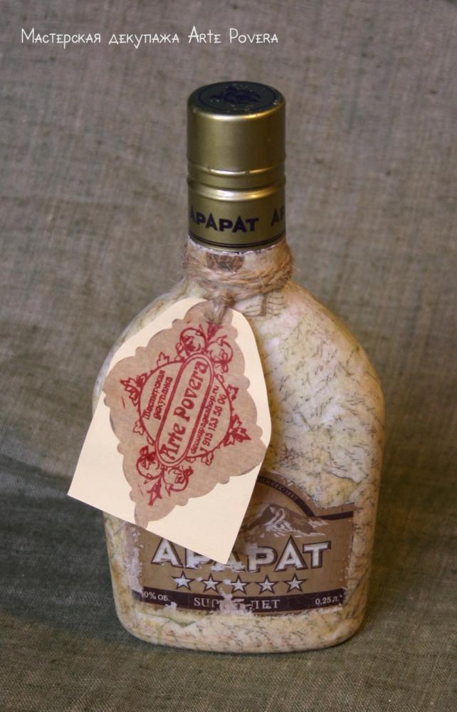 Как украсить бутылку виски своими руками
