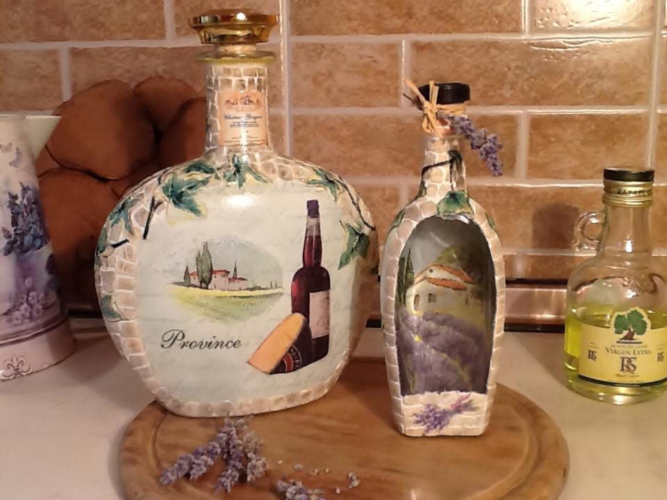 Декупаж бутылок своими руками как получить наросты