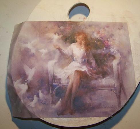 Картинка девушка в тумане