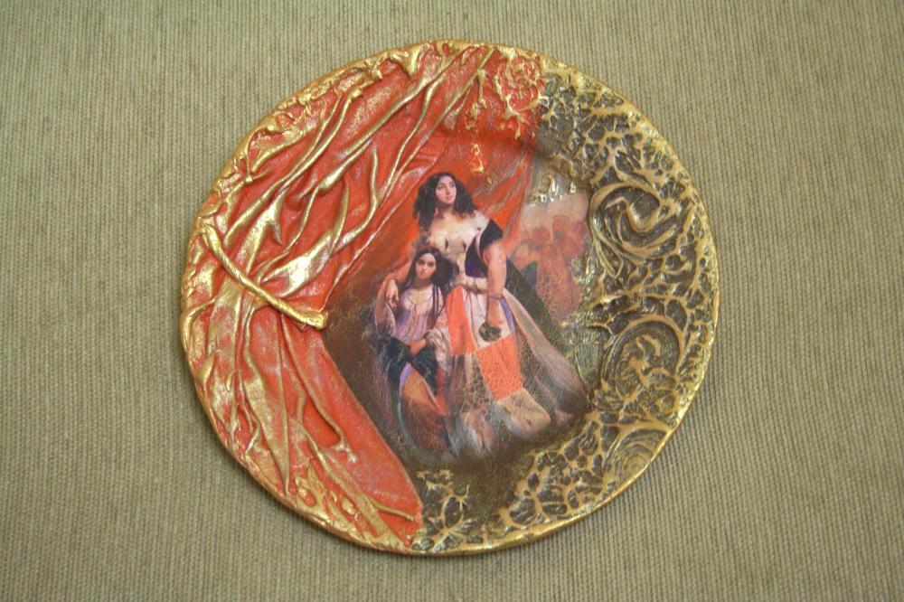 Декупаж тарелка своими руками