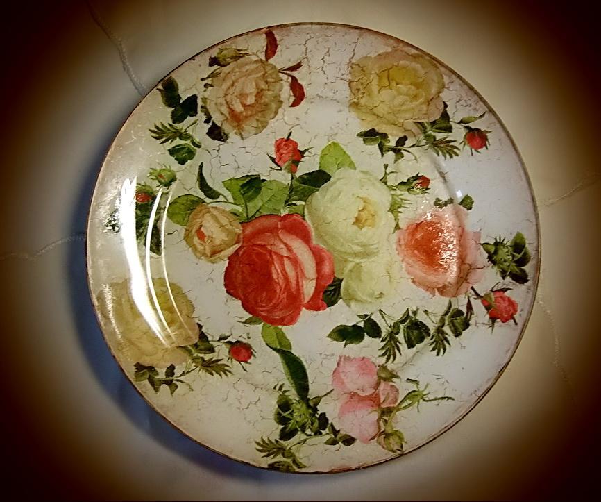 Декупаж тарелки фото